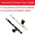 Оригинальный гибкий кабель громкости и мощности для Asus Zenfone 5 2018 Gamme ZE620KL/ Zenfone 5Z ZS620KL X00QD Запчасти для боковой кнопки переключения