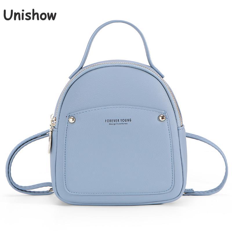 Small Pu Leather Women Backpack 2020 Summer Female Backpack Mini Zipper Women Bagpack Brand Designer Girl Back Pack Purse