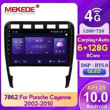MEKEDE API29 BT5.0 DSP nawigacja GPS samochodowe Multimedia DVD dla Porsche Cayenne 2002-2010 2din QLED tv ekran multimedialny 4GLTE WIFi SWC DVR