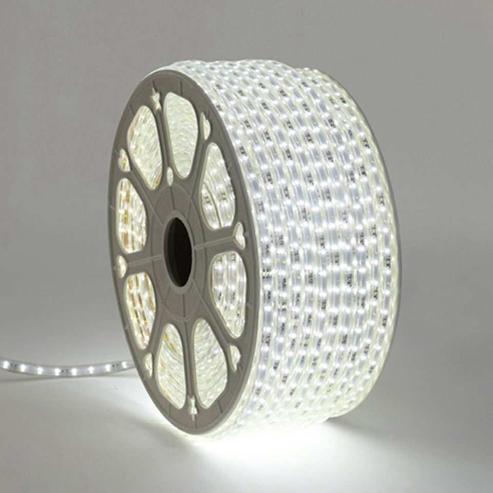 220V LED Light Strip 3014 SMD Waterproof 120LEDs/m Outdoor Rope LED Strip Light White/Warm White Power Switch plug