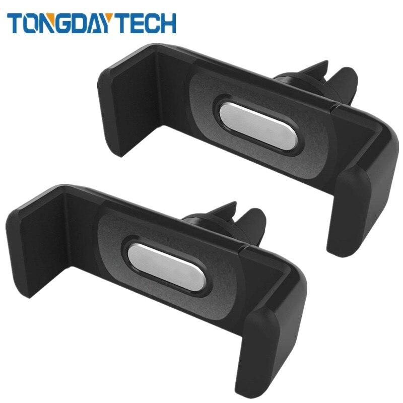 Tongdaytech Support pour téléphone de Voiture pour iPhone X 8 7 6 Plus 11 Pro Max Clip de montage d'évent Support de téléphone portable Support Smartphone Voiture