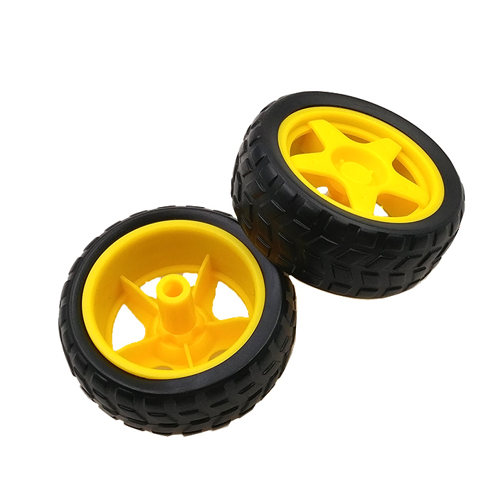TT Motor Rubber Wheel / Robot / Tracking Line Patrol Car Accessories Intelligent Car Tire For Arduino DIY Chassis Wheel 40g