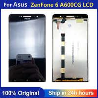 Para Asus ZenFone 6 A600CG A600KL A601CG lcd pantalla Digitalizador de pantalla táctil Sensor Panel de cristal montaje de Monitor
