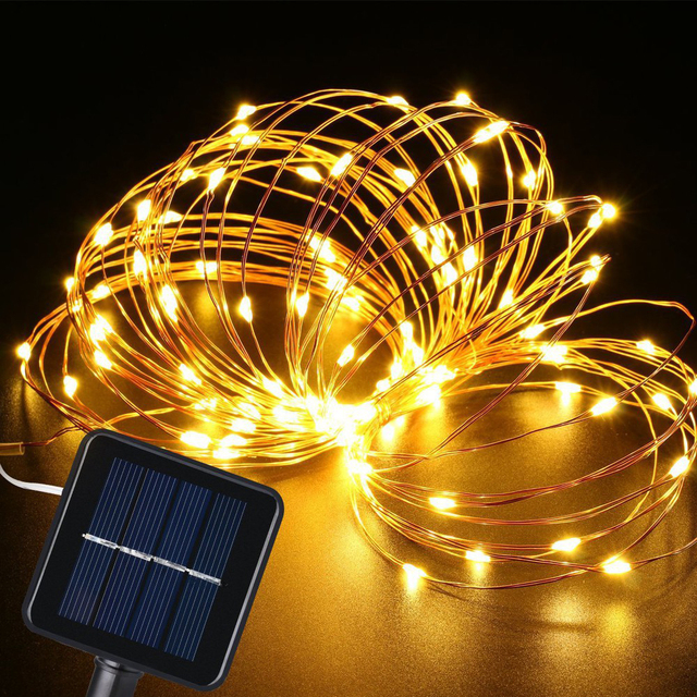 LED Garden Yard Solar Lamp String Lights 5M/10M//20M 300 LEDs Waterproof Solar Lamp For Fairy Holiday Christmas Party Garland 1