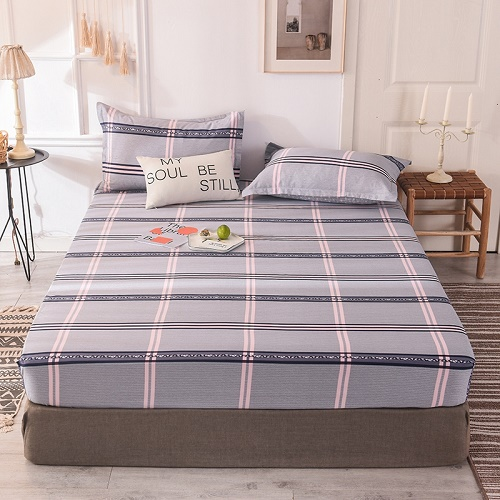 (New On Product) 1pcs 100% Cotton Printing bed mattress set with four corners and elastic band sheets(pillowcases need order) 17