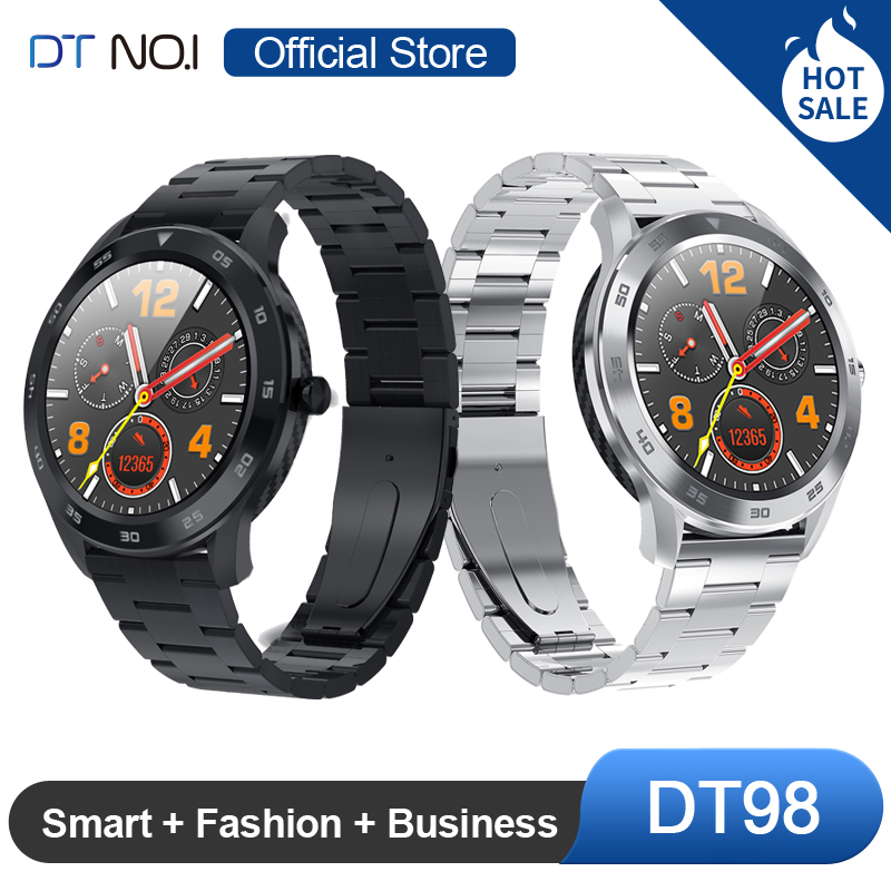 [BOUTIQUE OFFICIELLE] DTNO. I N° 1 DT98 Montre Intelligente IP68 Imperméable 1.3 Rond complet HD Écran Cadran Smartwatch Tracker De Fitness Hommes - 1