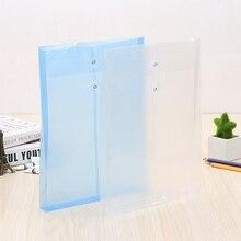 Folder File-Bag Transparent A4 Filing-Products School-Supplies Plastic Office 1PC Closure