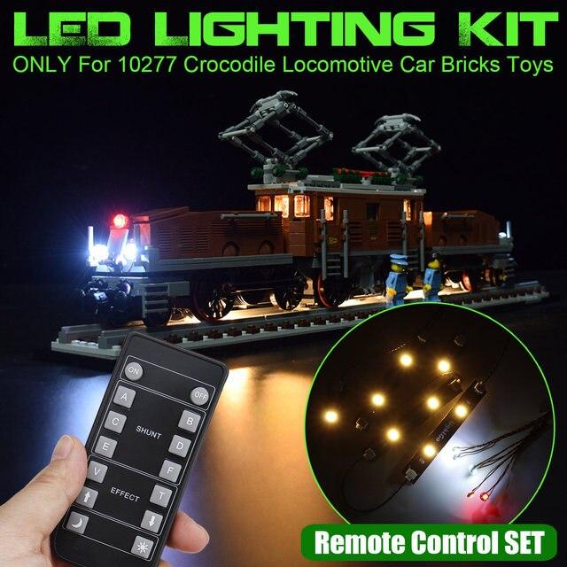 LED Lighting Kit for 10277 for Crocodile Locomotive Car Blocks Bricks Toys (Only LED Light Included) Classic/RC Version 1