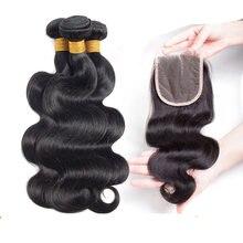 Объемная волна пряди с закрытием человеческие волосы бразильские