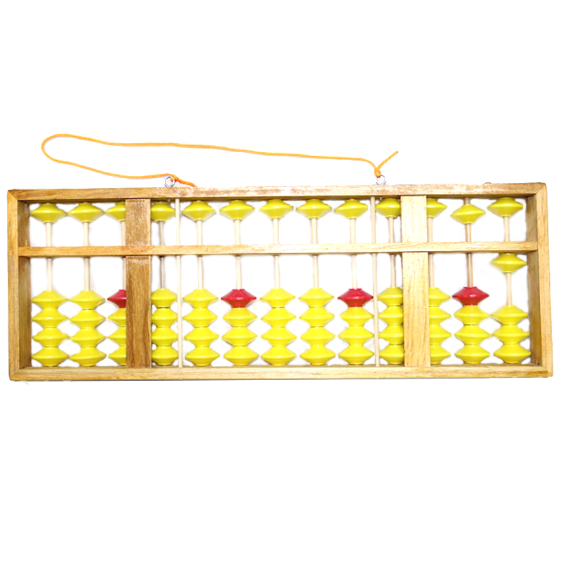 Chinese Abacus 13 Column Wood Hanger Big Size Non-Slip Abacus Chinese Soroban Tool In Mathematics Kids Math Education Toy 58Cm