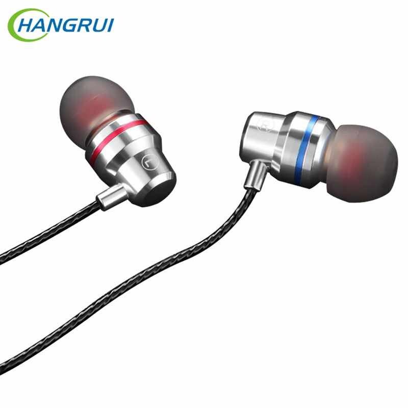 Auriculares con cable de Metal 3,5mm Super Bass sonido pesado Auriculares deportivos con micrófono 4D Auriculares estéreo para Samsung Xiaomi MP3 Auriculares