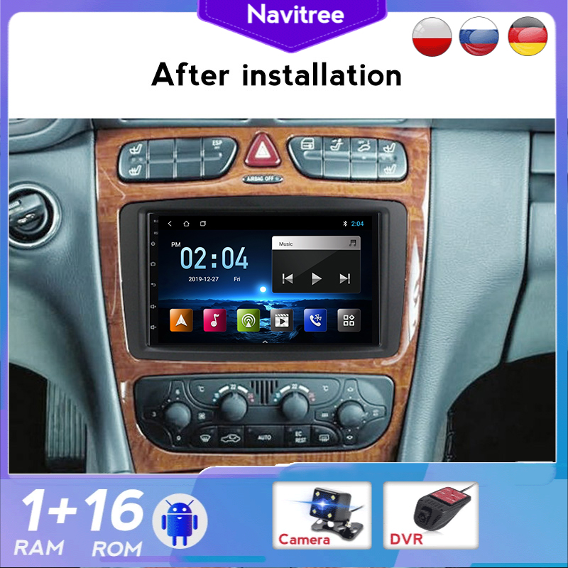2 Din Android 8,1 Автомобильный мультимедийный плеер GPS для Mercedes/Benz/CLK/W209/W203/W208/W463/Vaneo/Viano/Vito Авторадио DVR французский
