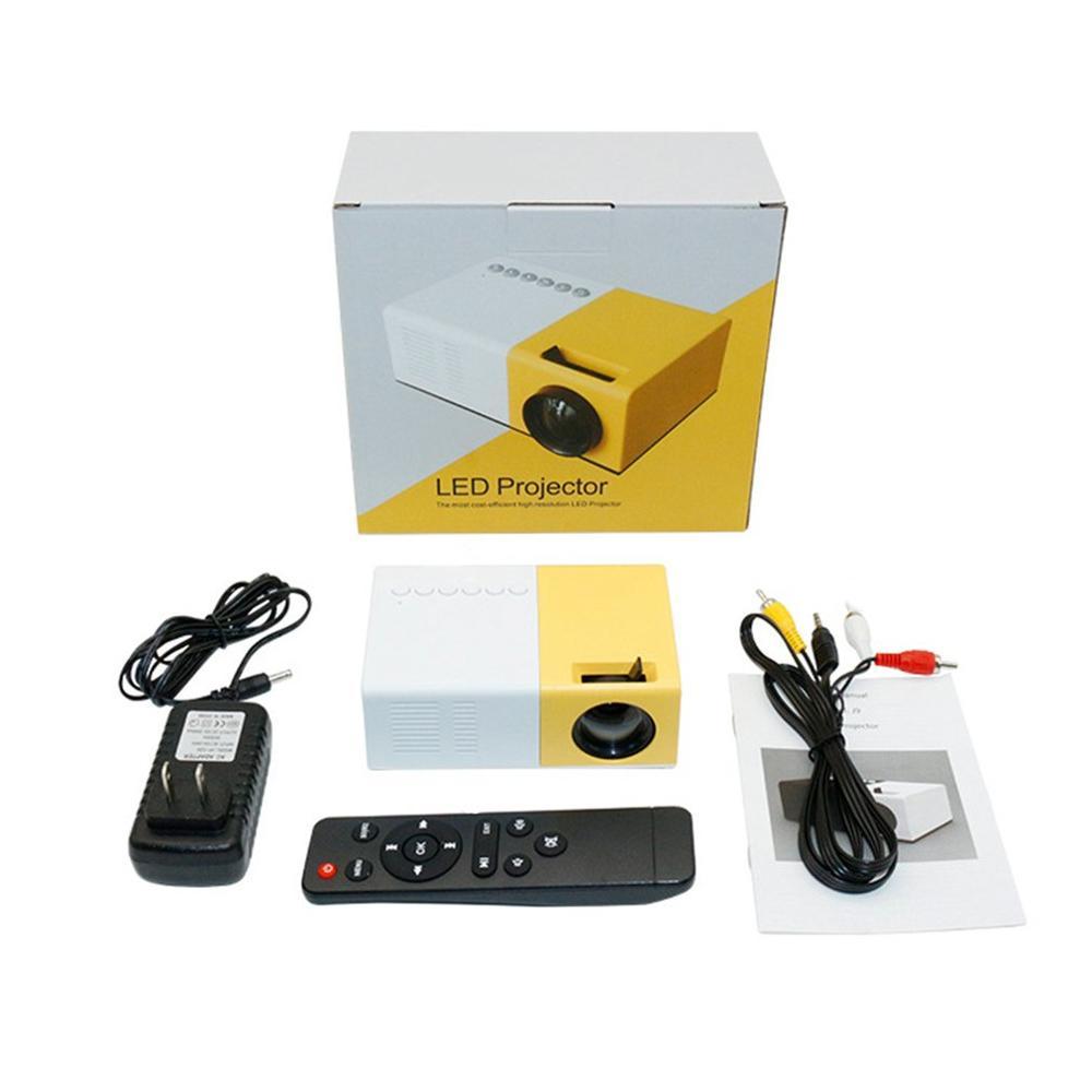 J9 mini projetor portátil suporte hdmi-compatível av usb hd 1080p vídeo media player led mini projetor de cinema em casa computador portátil-5