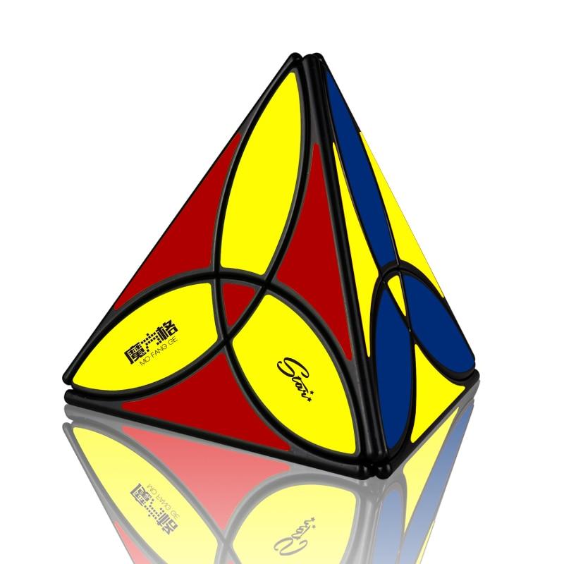 NEW QiYi MoFangGe Clover Pyramid Magic Cube QiYi Tetrahedron Cubo Magico 4 Colors Puzzle Toys Gift For Children