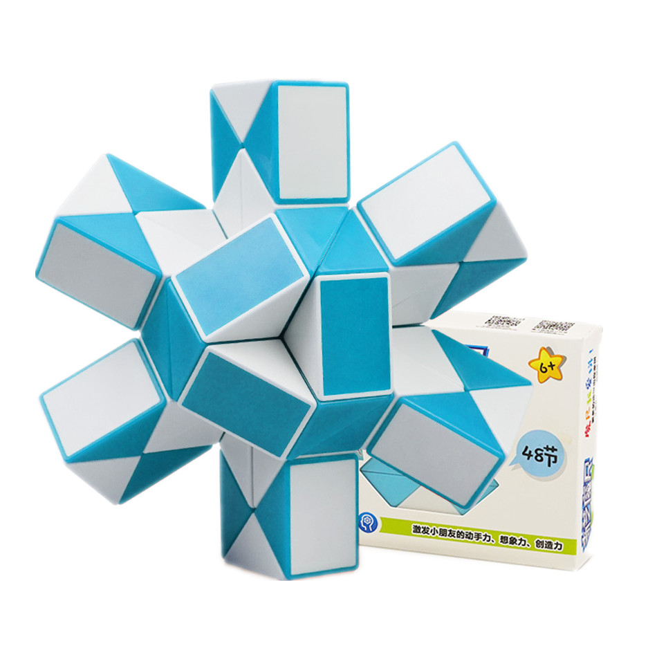 QIYI 48 segments Magic Snake Ruler Cube Puzzle Speed Antistress Cubes Twist Folding Profissional Toy for Kids Magic Cube