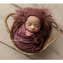 New Baby Photo Shoot Props Rattan Woven Basket Studio Photography  Accessories Hand-Woven Frame Newborn Posing Boy