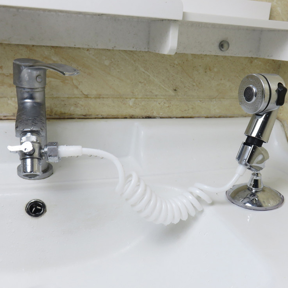 Handheld Shower Head Connect Stand Hose Spray Set For Hair Washing Baby Kid Pet Bath Cleaning MU8669