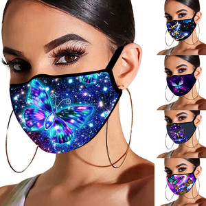 5PC Butterfly Printed Adult Mask Breathable Washable fabric Reusable mondkapjes Outdoor Haze Proof Dust Prevent Face Mask маски
