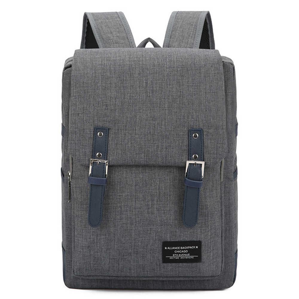 Litthing בית ספר מחשב נייד תרמיל בריטי סגנון Daypacks עמיד למים אוקספורד כתף שקיות גברים נשים נסיעות ספורט תרמיל