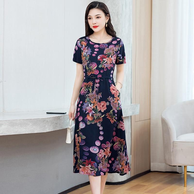 Летнее повседневное длинное платье в горошек для вечеринок, женское сексуальное платье с коротким рукавом и круглым вырезом, элегантное пляжное летнее платье в стиле бохо, Vestidos, большие размеры Платья      АлиЭкспресс