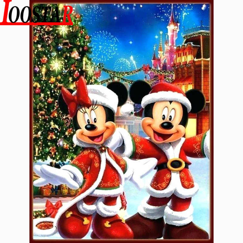 5d diy Diamond Painting Christmas Gift Cartoon couple Full Square Round Diamond Embroidery Mosaic Cross Stitch Home Decor