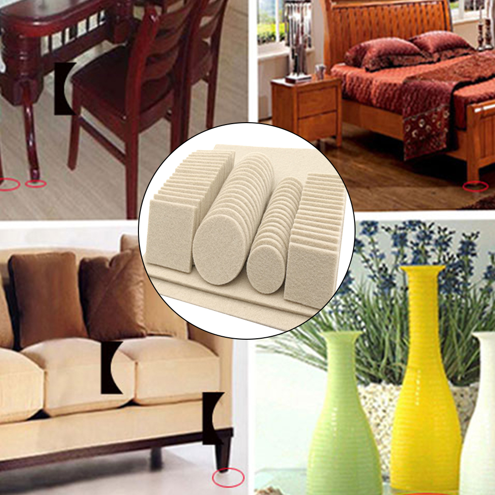 Felt Pad Anti Scratch Protective Non Slip Multi Function Furniture Legs Chair Floor Self Adhesive Easy Install Portable Home