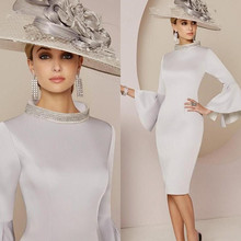 Modern Silver Mother of The Bride Dresses