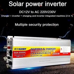 Inverter 12v 220v Hybrid Solar power inverter charger Voltage Transformer USB 500W 1000W 2000W Converter Adapter home