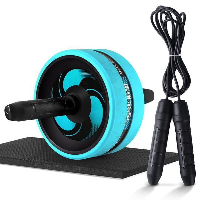 Ab Roller Exercise Fitness Ab Wheel Muscle Training Double-wheel Apparatus Press Roll Abdominal Muscle Equipment 2