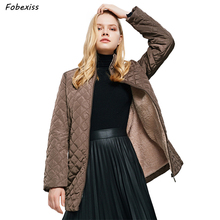 Fur Lined Winter Jacket Women Brown Plus Size Outdoor Farming Clothing Long Cotton Cold Coat 2019 Casual Woman Winter Jacket hestra deerskin winter lined dark brown