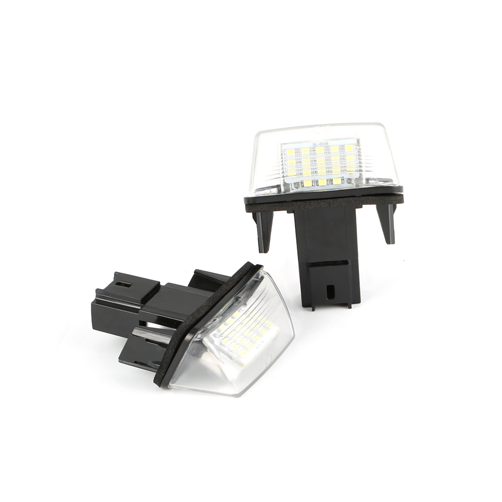 2PCS <font><b>Led</b></font> License Number Plate Lights Bulbs no error For Citroen C3 C4 C5 <font><b>Peugeot</b></font> <font><b>206</b></font> 207 306 307 308 406 407 White 18 <font><b>LED</b></font> image