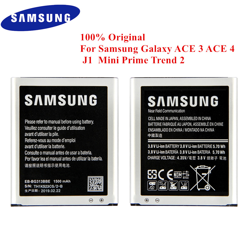 Original <font><b>Battery</b></font> EB-BG313BBE for <font><b>Samsung</b></font> Galaxy ACE 3 ACE 4 neo ACE 4 Lite J1 Mini Prime Trend 2 G313H S7272 S7562C <font><b>G318H</b></font> G313M image