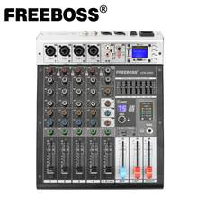 Freeboss-ADM-GBR6 Phantom Power Repaeat de 48V, función USB, Bluetooth, Karaoke, consola de DJ, mezclador de Audio 99DSP de 6 canales