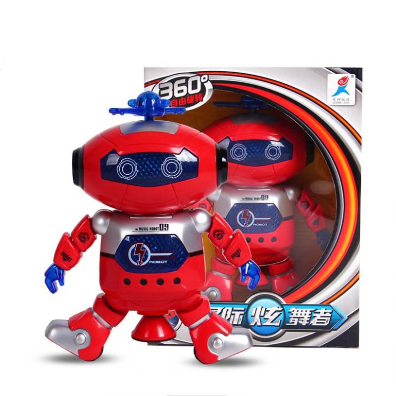 Wind Dancer The Electric Space Dancing Robot Le Zhou 360-Degree Smart Rotating Light And Sound Infrared