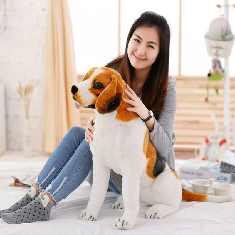 Моделирование Beagle Shepherd пятнистая собака игрушка мягкие животные собака плюшевые игрушки подарок для детей домашний декор магазин домашних...