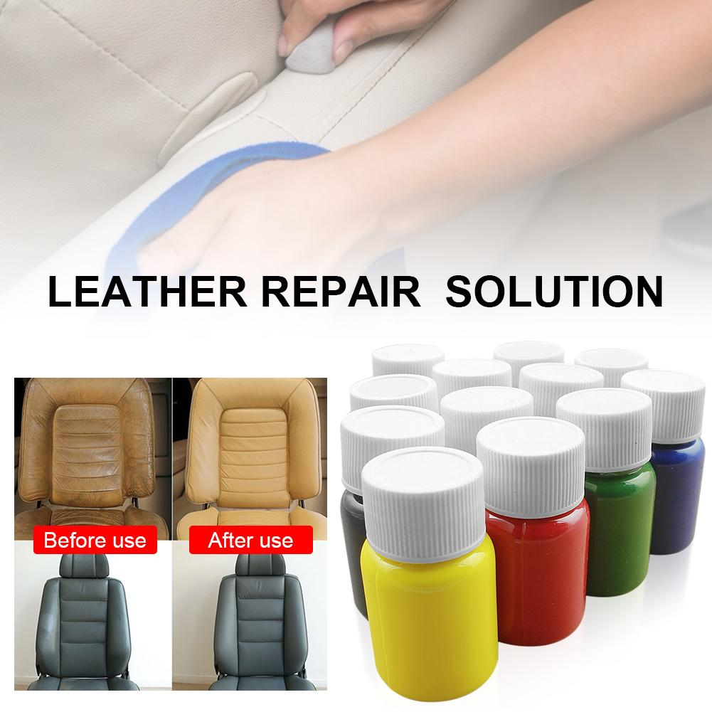 Universal Leather Repair Tool 20ml Car Seat Sofa Coats Holes Scratch Cracks No Heat Liquid Leather Vinyl Repair Kit