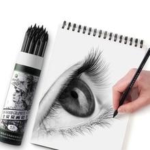 Pencil-Painting Art-Supplies Charcoal Student Sketc-Pen Black Soft Manga Non-Toxic Professional