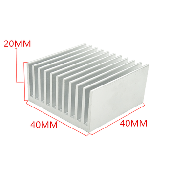 Extruded Aluminum Heatsink For High Power LED IC Chip Cooler Radiator Heat Sink Drop Ship free ship by dhl ems aramex high power electronic radiator aluminum heat sink w200mm h45mm custom length 200 45 400mm radiator