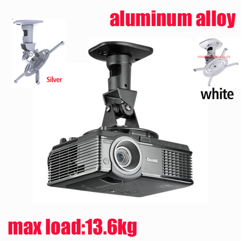 otočný držák projektoru - D-mount 13.6kg universal full motion tilt swivel ALUMINUM projector ceiling mounted bracket rack