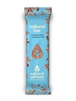 Barres Énergétiques Amandes et Noix de Cajou Natural Athlete,Sans Sucres, 100% Organique et BIO, Sans Gluten, Végan, 40 g фото