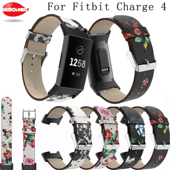 Replacement band For Fitbit Charge 4 new fashion classic Band luxury Leather Straps Interchangeable Smart Fitness WatchBand