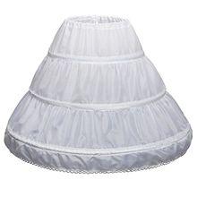 Г. Белая детская юбка трапециевидной формы с 3 кольцами, однослойное детское кринолиновое кружевное платье с цветочной отделкой для девочек Нижняя юбка с эластичной резинкой на талии