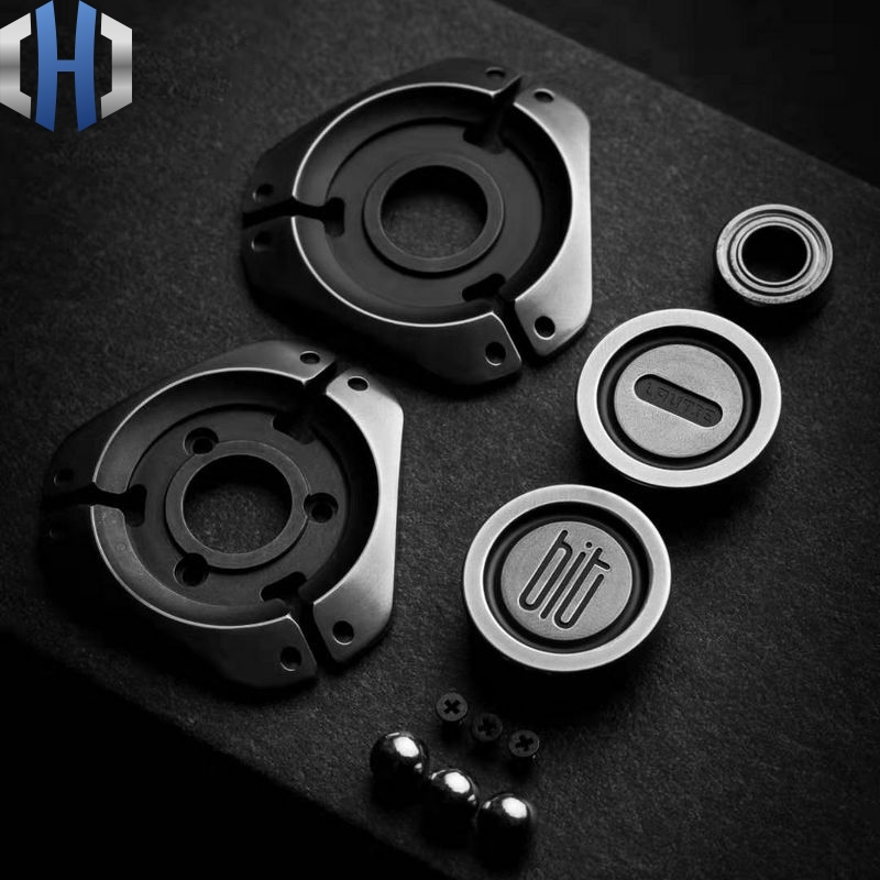 Original LAUTIE BIT-03 Fingertip Gyro Zirconium amp 304 Steel Portable Personality Bearing Rotating Adult Decompression EDC