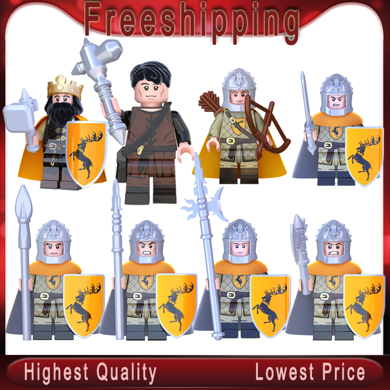 Game Of Thrones Sword Archer Axe Spear Infantry Gendry Baratheon Walker Jon Snow Building Blocks  Bricks Toys For Kids KT1029