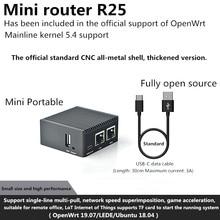 (1 pces) r2s mini roteador, cnc completo metal escudo rk3328 duplo gigabit ethernet porto openwrt5.4 novo e original