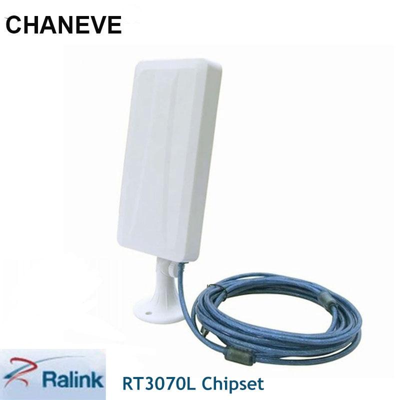 Беспроводной адаптер Ralink RT3070L, 2000 МВт, 150 Мбит/с, с антенной 14 дБи для Kali Linux