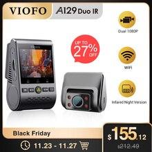 VIOFO A129 Duo IR ön ve iç çift çizgi kam 5GHz Wi Fi Full HD 1080P tamponlu park modu uber taksi