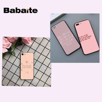 Babaite Vintage Pink songs lyrics Soft Silicone TPU Phone Cover for iPhone 8 7 6 6S Plus X XS MAX 5 5S SE XR 11 11pro promax image