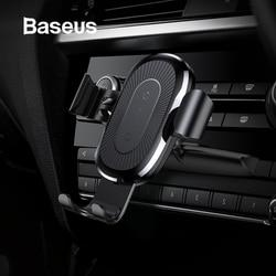 Baseus carro carregador sem fio titular do telefone suporte de gravidade slot cd montagem clipe titular para iphone 11 xs samsung s10 s9 carro suporte