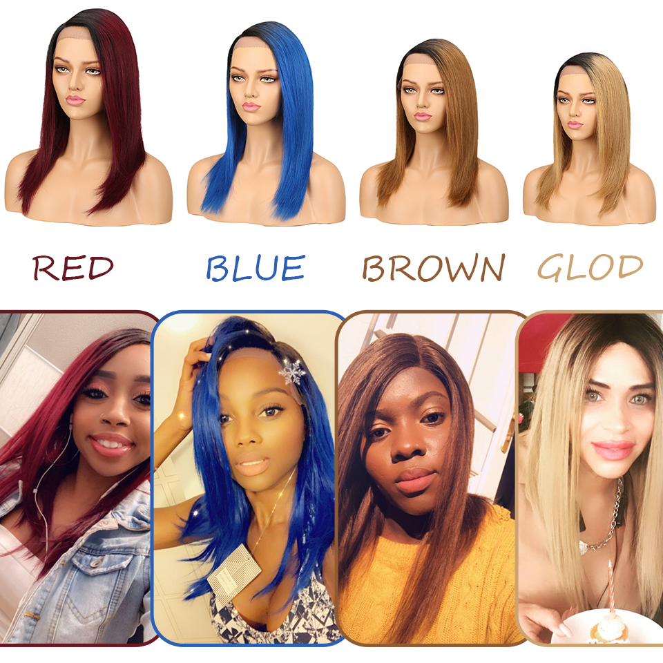 Sleek Lace Front Human Hair Wigs Silky Straight Long Red Middle Part Lace Human Hair Wig For Women Pre Plucked With Baby Hair